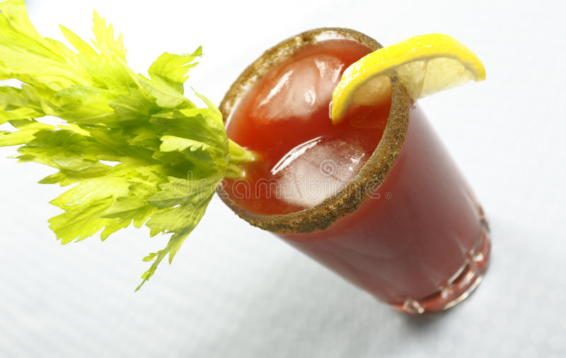 Bloody or mary caesar drink royalty free stock photo