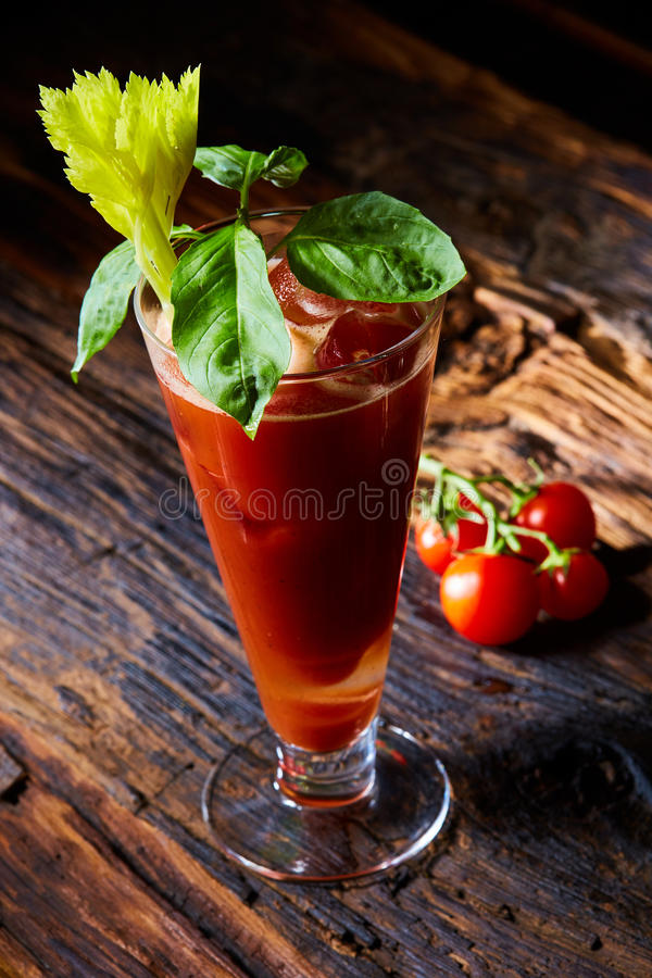 Bloody mary de cocktail photo stock