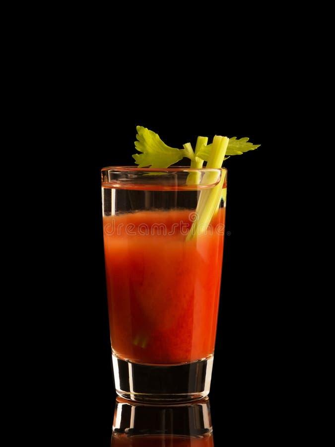 Bloody Mary koktajlu napój odizolowywający na czarnym tle obrazy stock