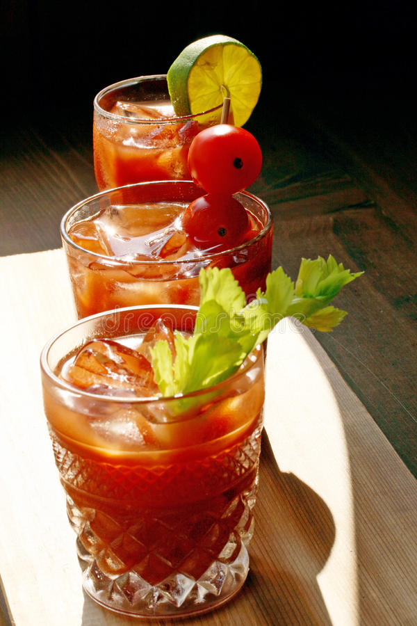 Download Bloody Mary Trio stock image. Image of celery, chilled - 14859569