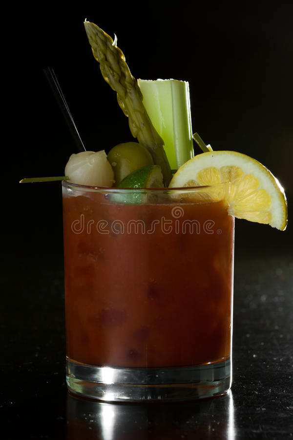 Bloody Marycokatil arkivfoton