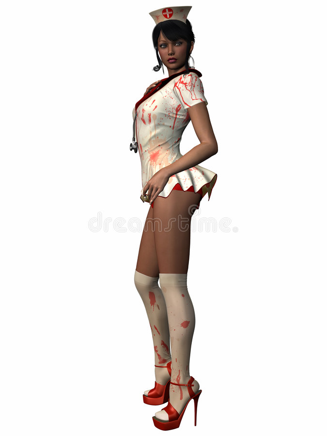 Bloody Nurse royalty free stock images