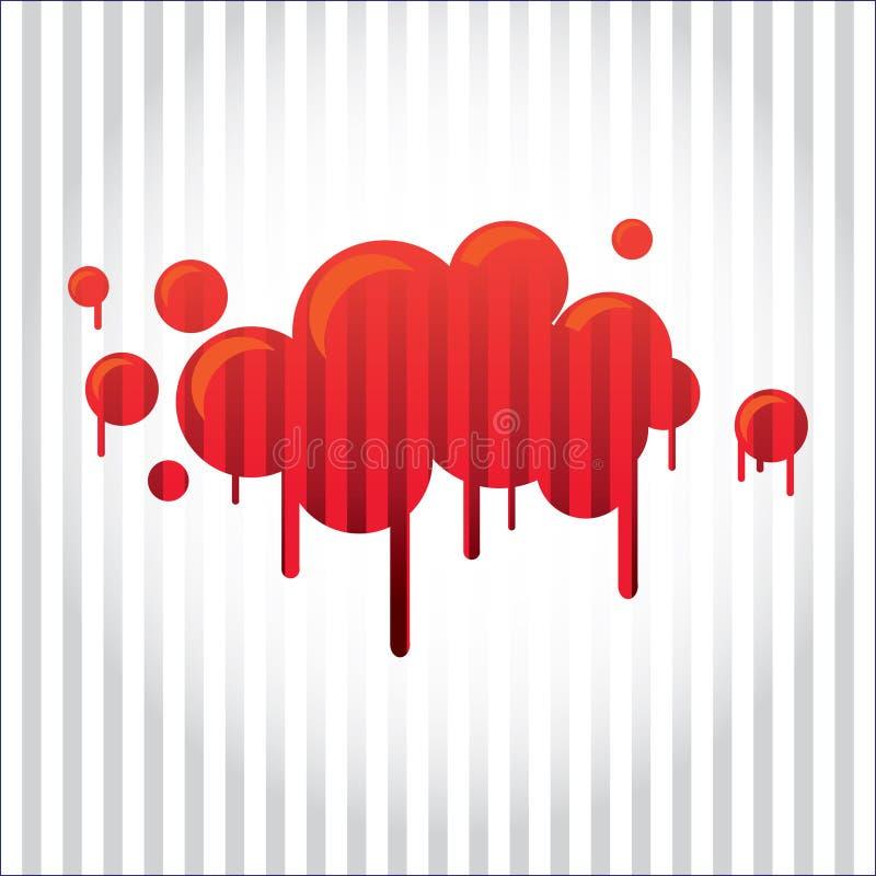 Download Bloody spot stock illustration. Image of color, illustration - 22046050