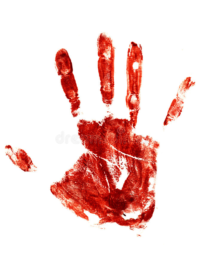 Download Bloody Trail Of A Human Hand Stock Illustration - Image: 7265311