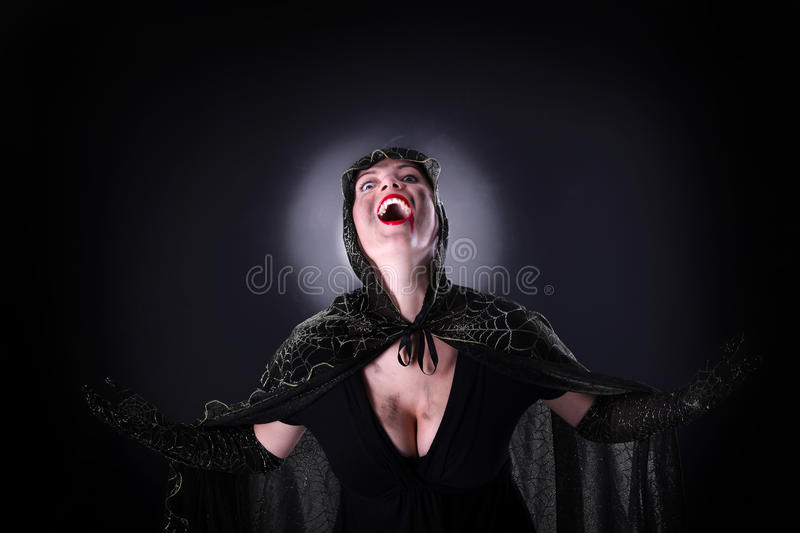 Download Bloody vampire stock photo. Image of lady, night, face - 21729728