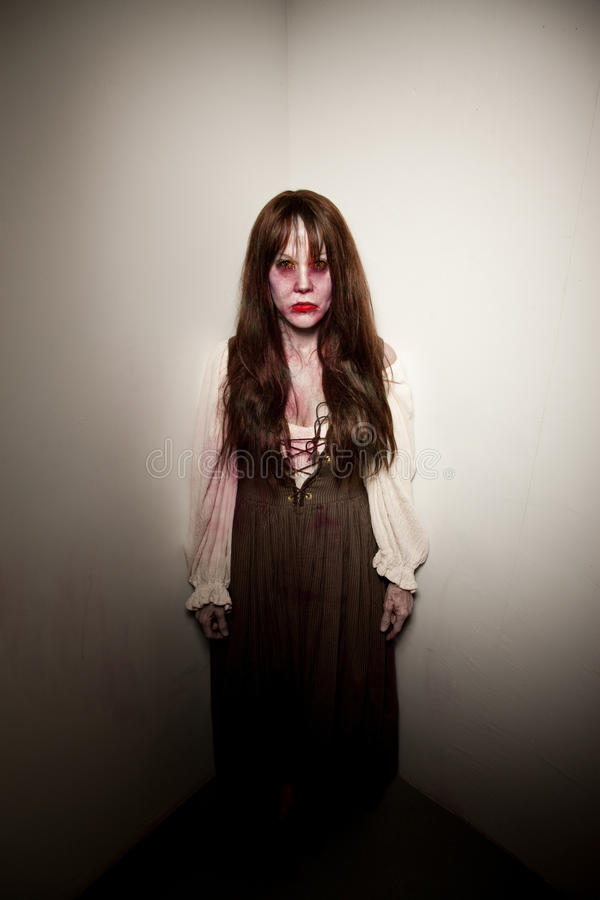 Bloody Village Witch Or Zombie Royalty Free Stock Photo