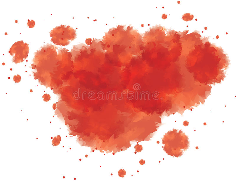 Download Bloody watercolor spots stock vector. Image of part, dots - 26546238