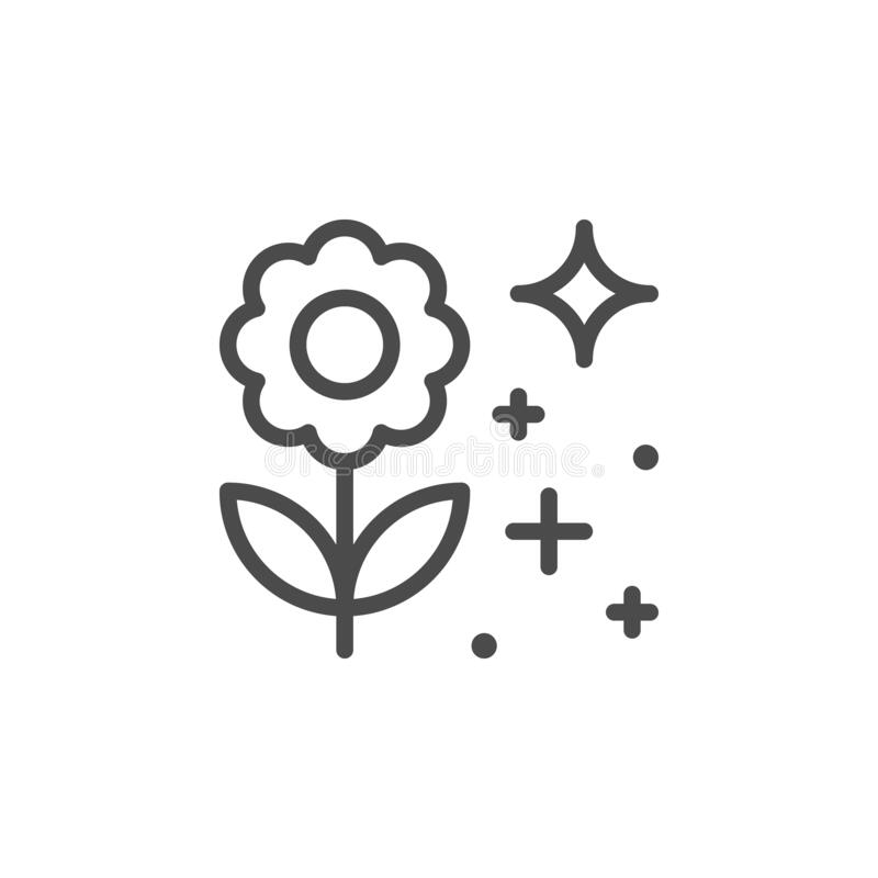 Free Blooming Flower Line Outline Icon Royalty Free Stock Image - 174578456