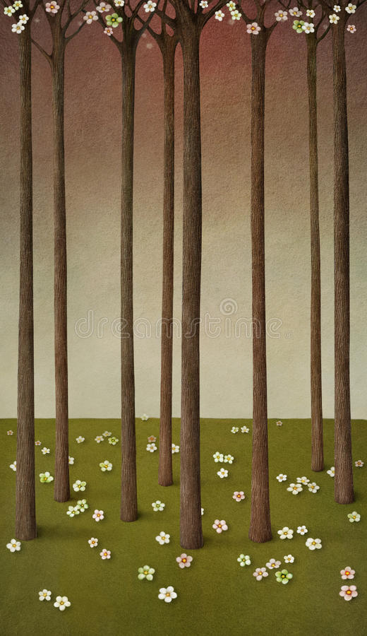 Download Blooming forest stock illustration. Illustration of texture - 24241514