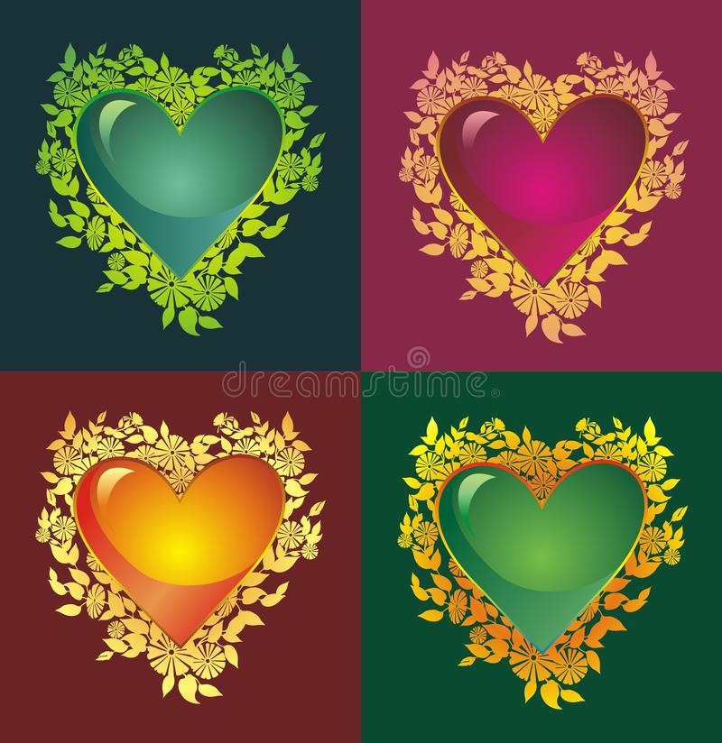 Download Blooming heart stock illustration. Image of holiday, abstract - 12643293