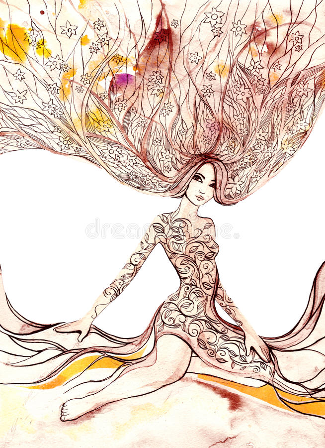 Blooming woman royalty free stock photo