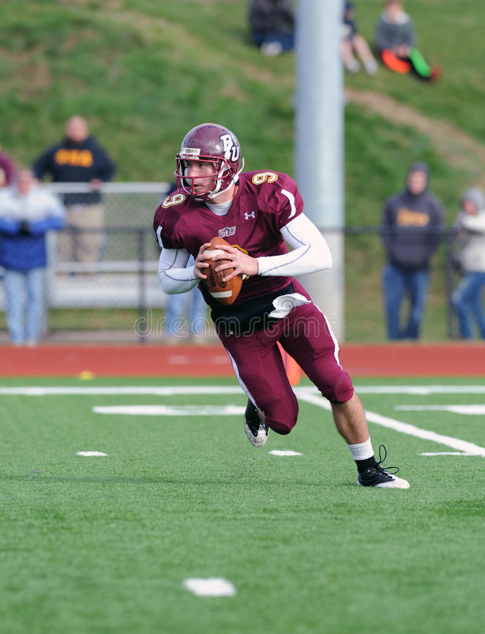 Bloomsburg Quarterback Klaps Carey stockbilder