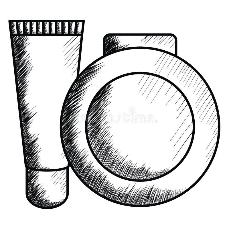 Bloos en helder maak omhoog het trekken van pictogram royalty-vrije illustratie