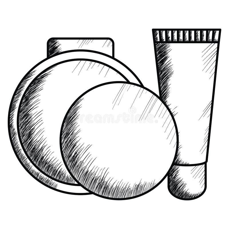 Bloos en helder maak omhoog het trekken van pictogram vector illustratie