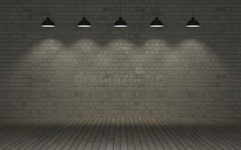 Blootgestelde bakstenen muur royalty-vrije illustratie