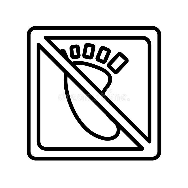 Blootvoets pictogram vectordieteken en symbool op witte backgroun wordt geïsoleerd vector illustratie