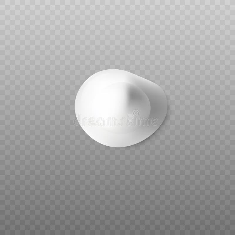 Blop realista de la opinión superior de la crema corporal sobre fondo transparente ilustración del vector