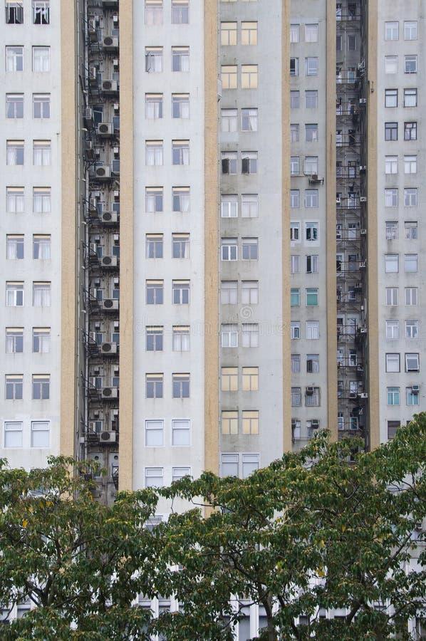 Bloque de apartamentos de Hong-Kong fotos de archivo libres de regalías