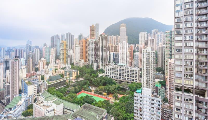 Bloque de apartamentos de Hong-Kong imagen de archivo