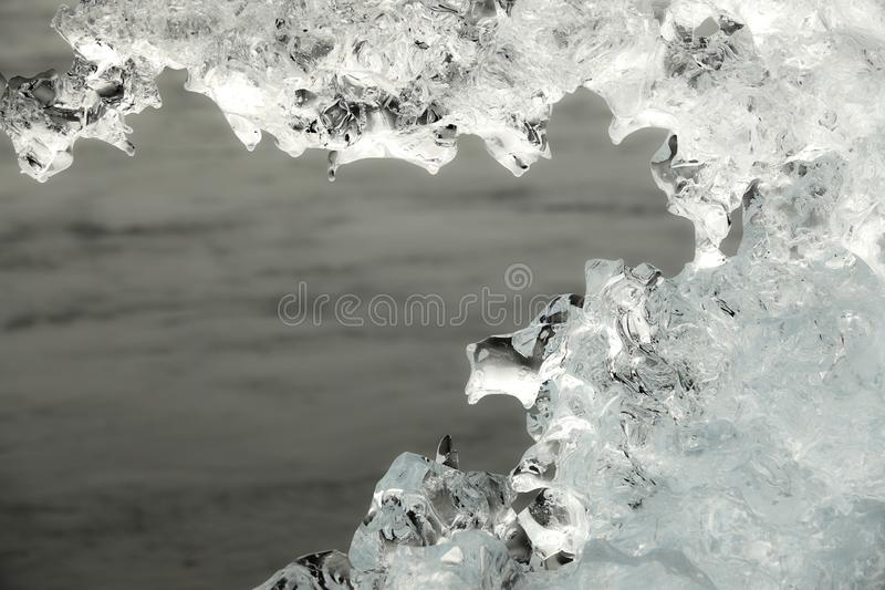 Bloque de hielo en Diamond Beach fotografía de archivo libre de regalías