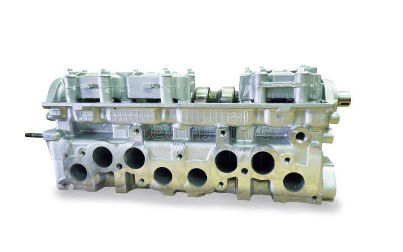 Bloque de motor con cuatro cilindros y cuatro válvulas foto de archivo libre de regalías