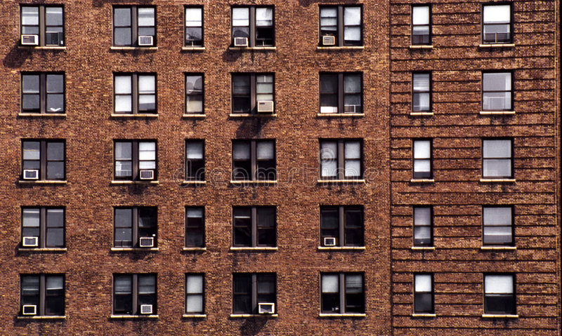 Bloque de Nueva York de viviendas foto de archivo