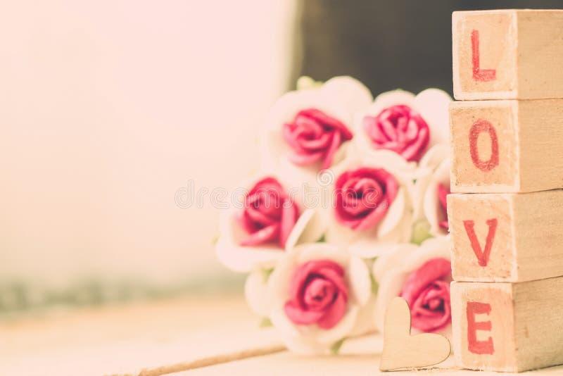 Bloque de palabra del amor imagen de archivo libre de regalías