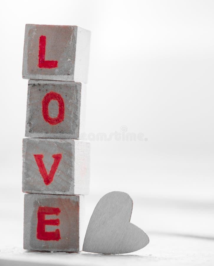 Bloque de palabra del amor fotografía de archivo