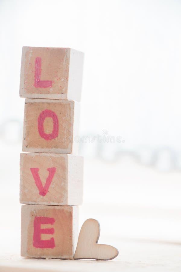 Bloque de palabra del amor foto de archivo libre de regalías