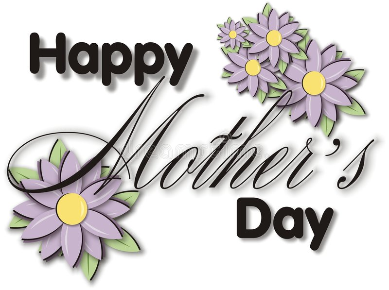 Bloque de título del día de madres libre illustration