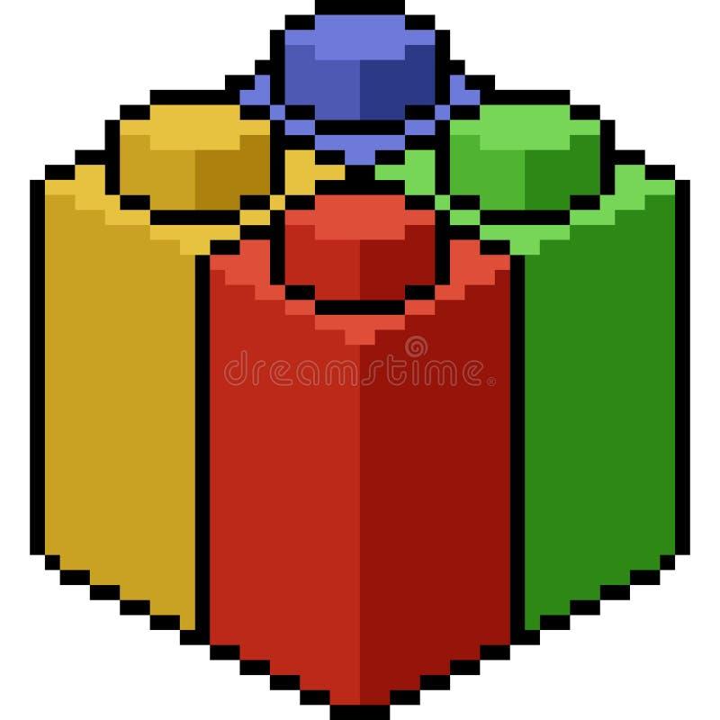 Bloque del juguete del arte del pixel del vector stock de ilustración