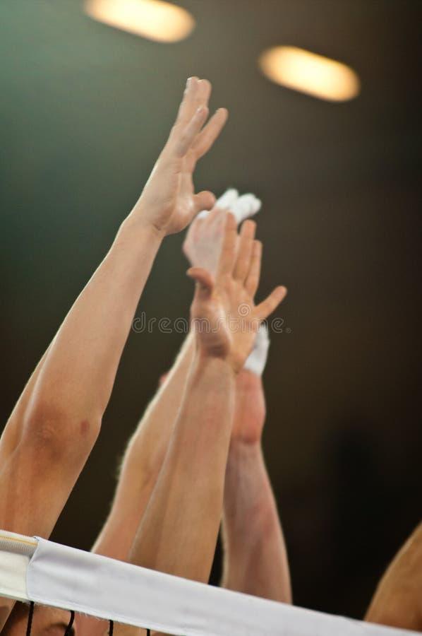 Bloque del voleibol fotografía de archivo