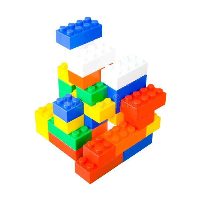 bloque le plastique coloré images stock