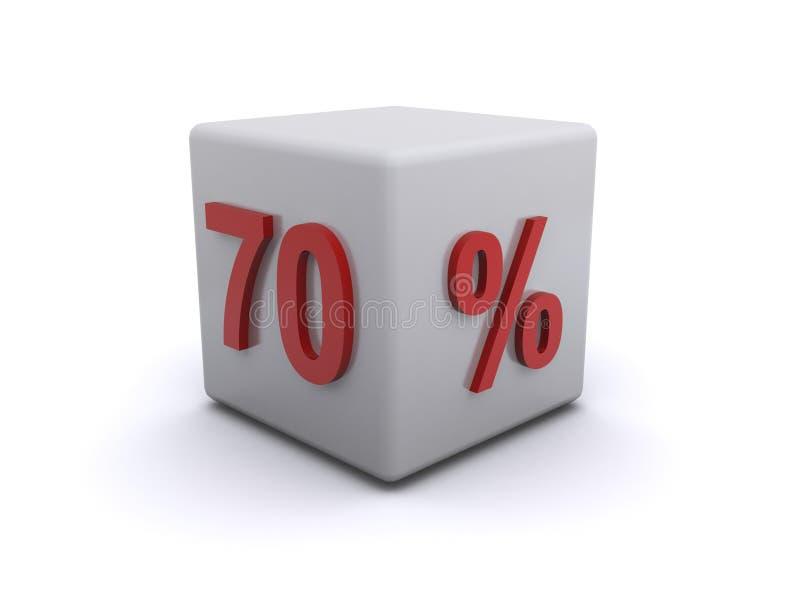 bloque o cubo del 70 por ciento ilustración del vector
