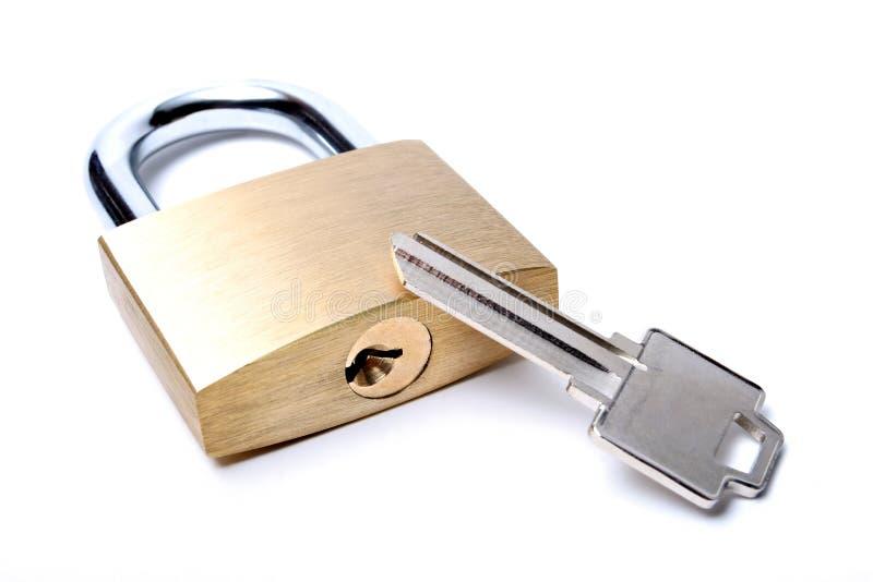 Bloquee con clave sin cortar imagen de archivo