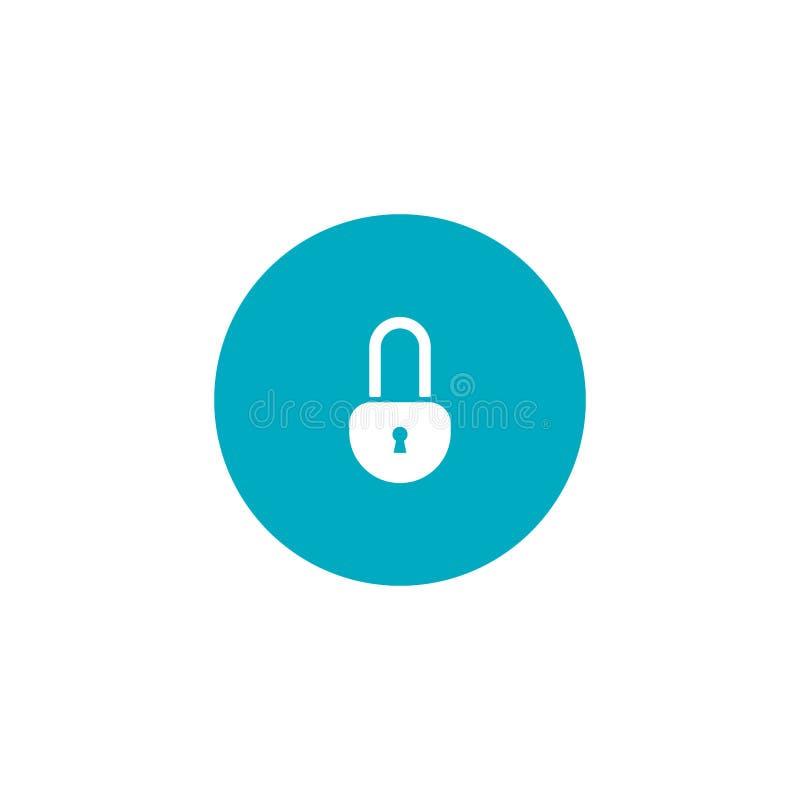 Bloquee el icono Concepto de la seguridad S?mbolo plano del vector ilustración del vector