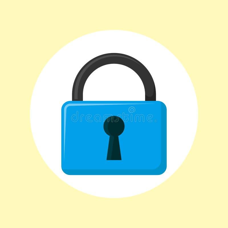 Bloquee el icono Elemento de la cerradura y de los iconos de las llaves para los apps m?viles del concepto y del web ilustración del vector