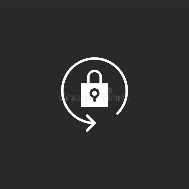 Bloquee el icono Icono llenado de la cerradura para el diseño y el móvil, desarrollo de la página web del app icono de la cerradu stock de ilustración