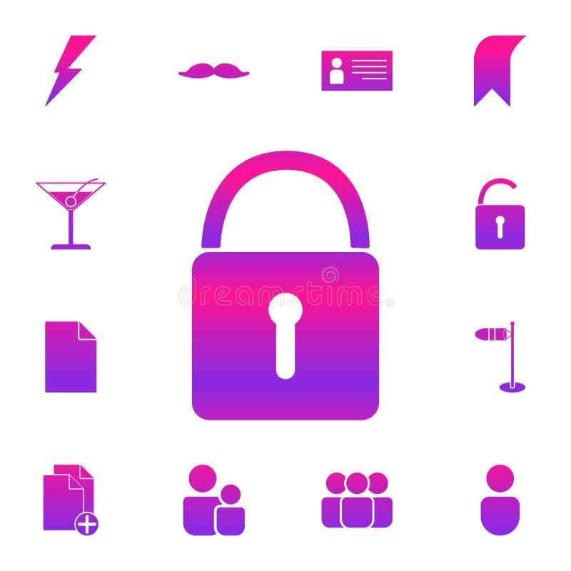 Bloquee el icono Sistema detallado de iconos nolan del estilo Diseño gráfico superior Uno de los iconos de la colección para los  ilustración del vector