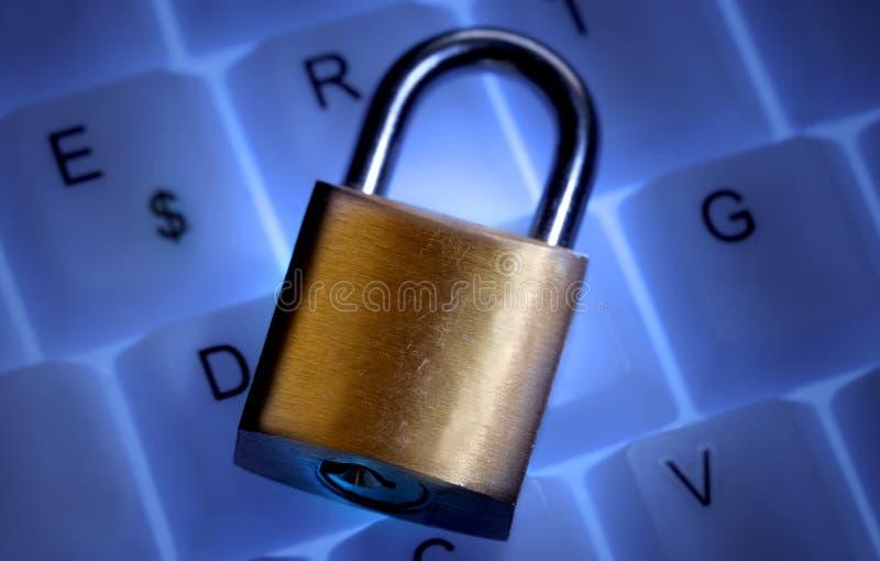Bloquee en un teclado fotografía de archivo libre de regalías