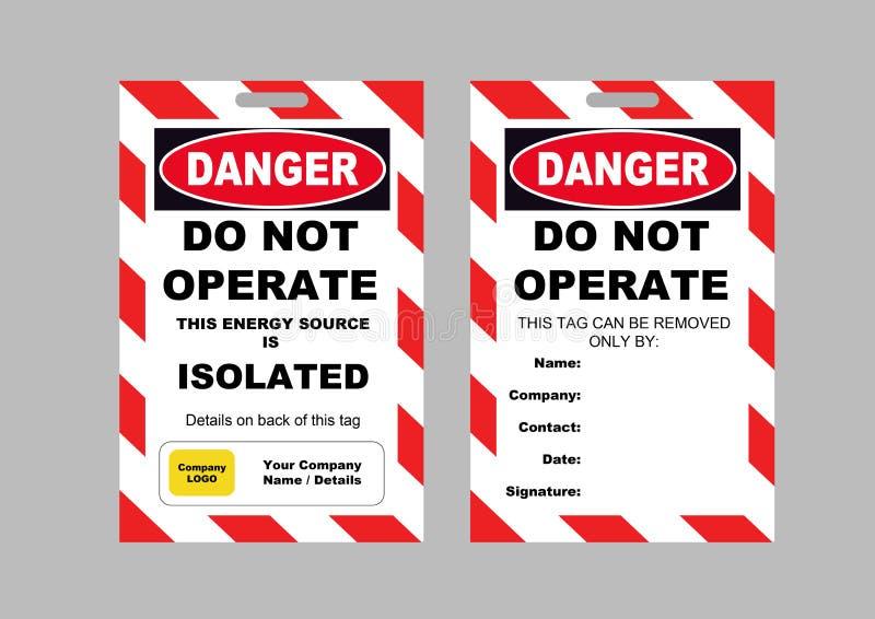 Bloquee hacia fuera la tarjeta de etiqueta   ilustración del vector