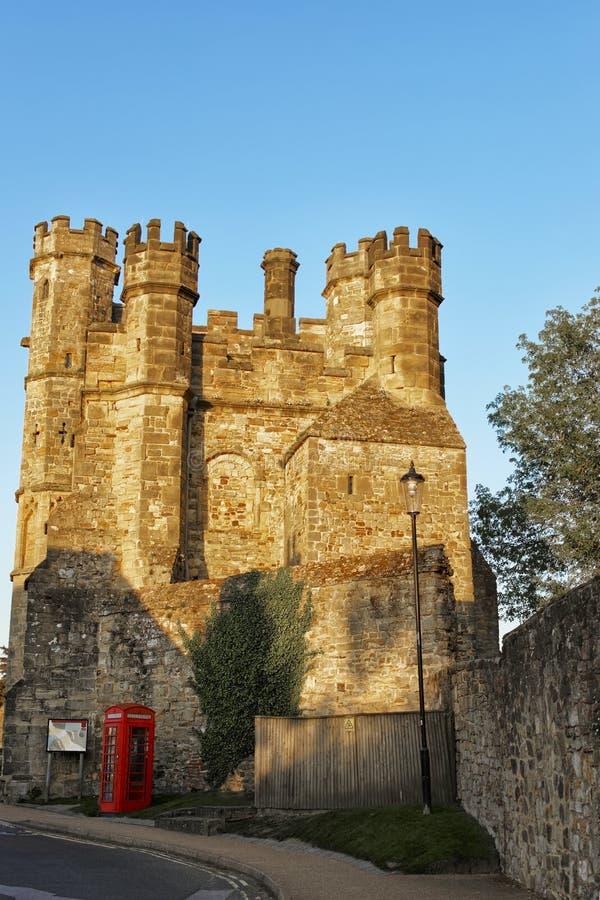 Bloquee la casa en abadía de la batalla en Sussex del este en Inglaterra foto de archivo