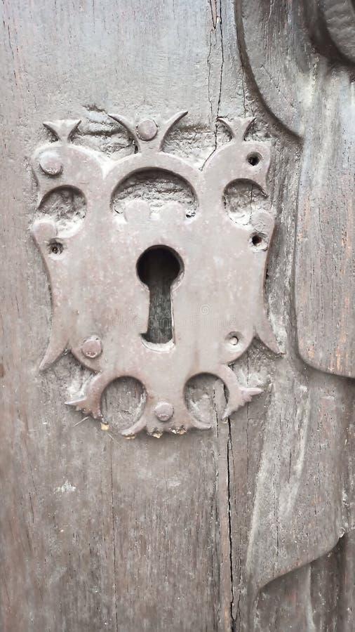 Bloqueio chave, antigo, em particular fotografia de stock royalty free