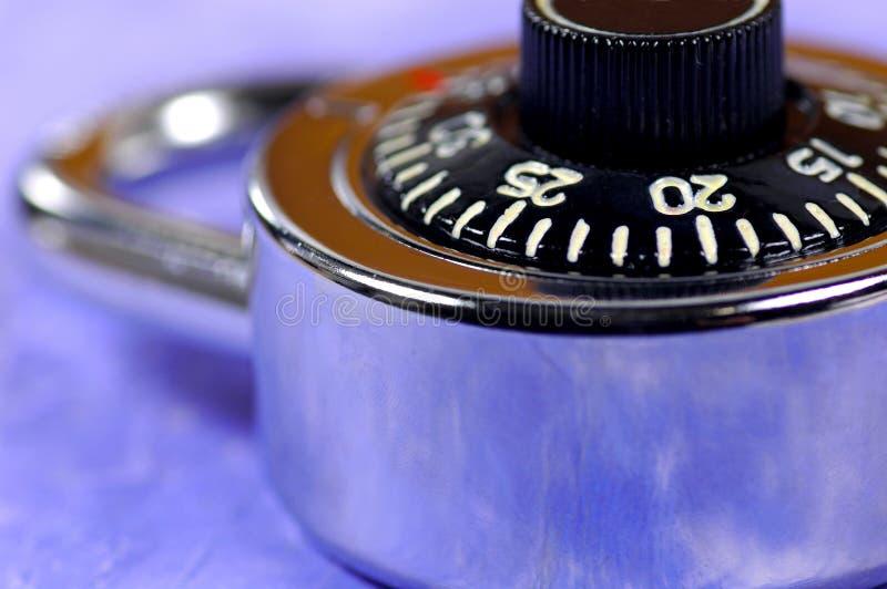 Bloqueo de combinación fotografía de archivo libre de regalías