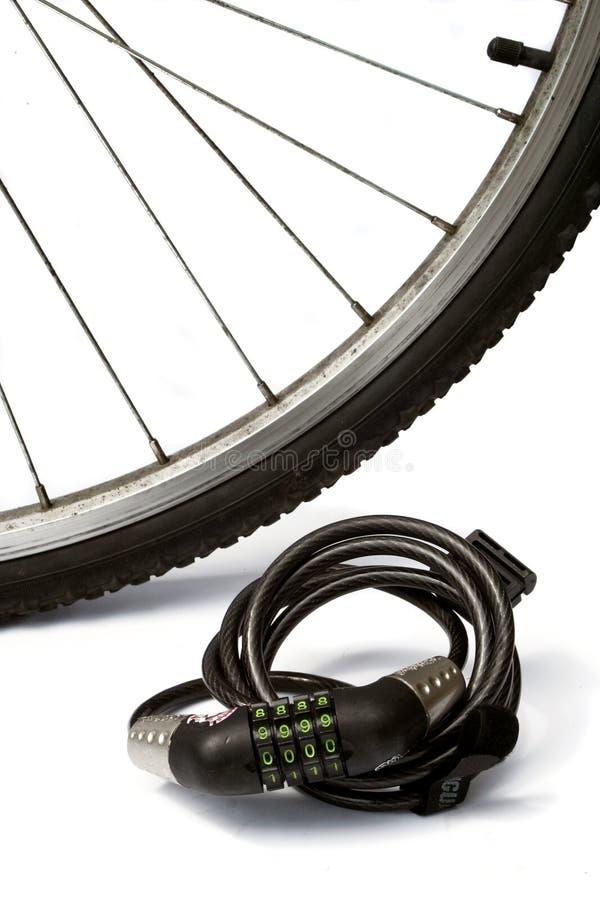 Bloqueo de la bici imagen de archivo libre de regalías