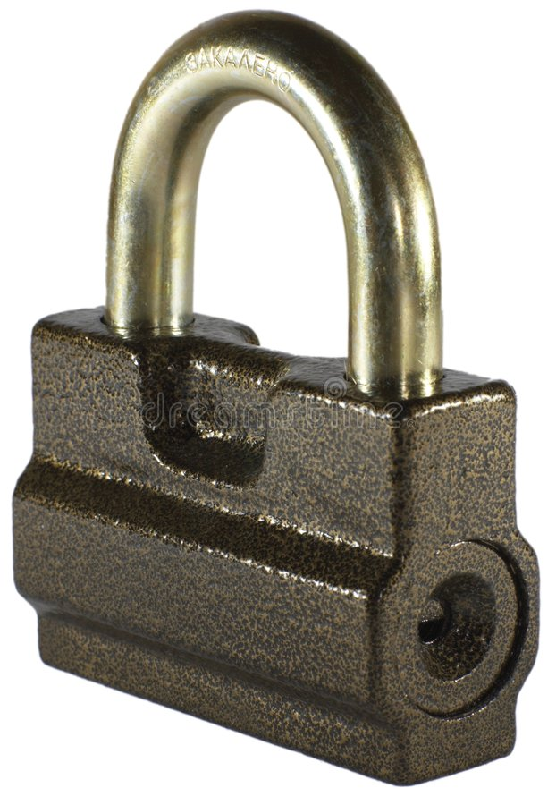Bloqueo de seguridad foto de archivo libre de regalías