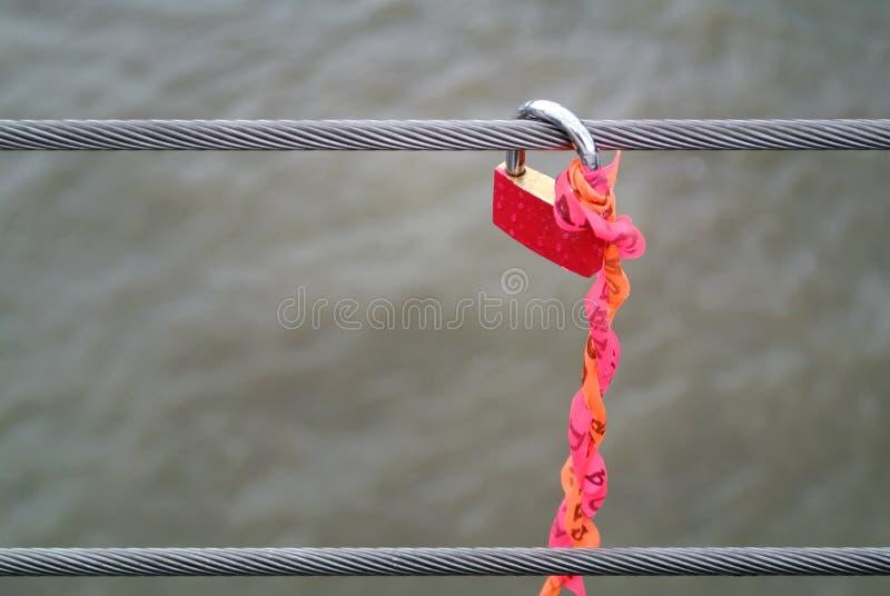 Bloqueo rojo imagen de archivo libre de regalías