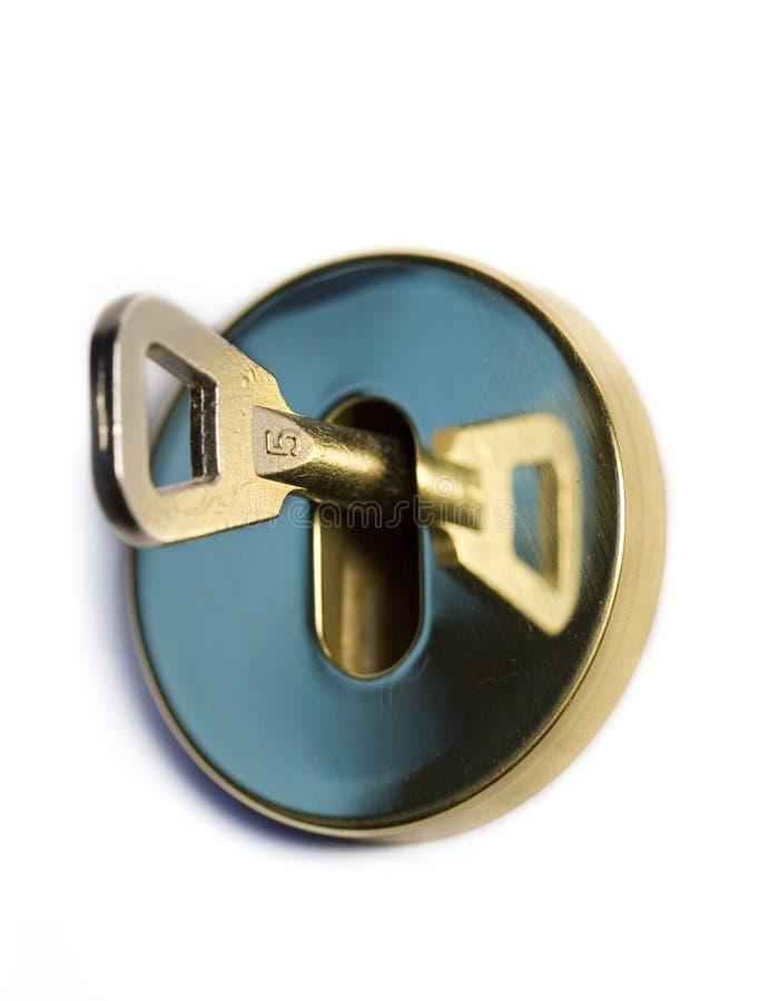 Bloqueo y clave foto de archivo libre de regalías