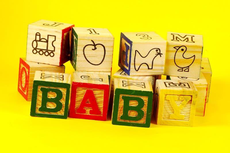 Bloques 3 del bebé imagenes de archivo