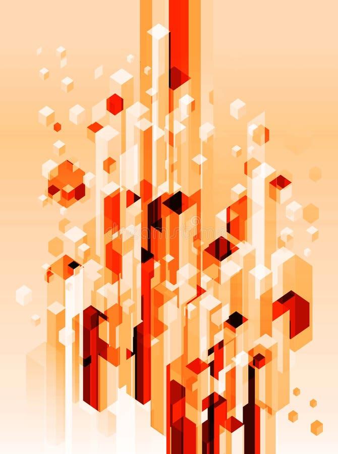 Bloques abstractos 3d stock de ilustración